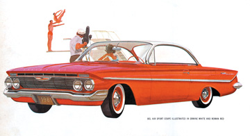 The leaner, sleeker looking 1961 was a major departure from Harley Earl's chrome laden giants.