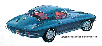 Bill Mitchell is most famous in Corvette circles. Shown above was his all new 1963 split-window.
