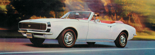 The all-new Camaro for 1967 was another of Mitchell's creations.